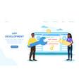 concept application development vector image vector image