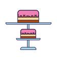 cute stand birthday cake cartoon vector image
