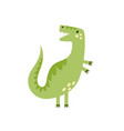 cute tyrannosaurus rex in cartoon style isolated vector image