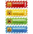 Danger banner vector image