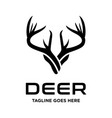 deer head horn vector image