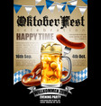 design poster with food and drink elements for vector image