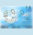 drawings of steel structures pipes and pipe 3d vector image vector image