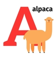 English animals zoo alphabet letter A vector image vector image