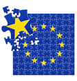 european union flag divided vector image