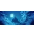 Fantasy Castle Moonlight Sky vector image vector image