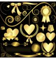 golden design elements vector image vector image