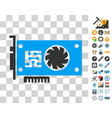 gpu accelerator card icon with bonus vector image vector image