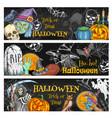 halloween night party chalkboard banner