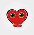 Heart Face Happy Emoticon vector image vector image