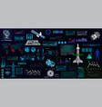 hightech elements set hud ui style vector image vector image