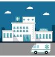 hospital ambulance building design vector image vector image