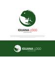 iguana reptile logo design vector image vector image