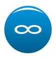 Infinity symbol icon blue