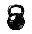 kettlebell sketch gym symbol vector image