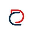 letter dc outline minimalist creative modern logo vector image vector image