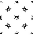 monkey pattern seamless black vector image vector image