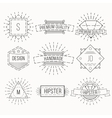 Outline badges and emblems template vector image vector image