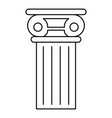 pillar icon outline style vector image vector image
