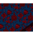 Repeating Floral Pattern Blue and red vector image