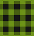 seamless black dark and bright green tartan vector image