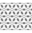 seamless geometric pattern simple floral figures vector image vector image