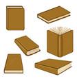 set cartoon brown books vector image vector image
