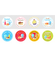 Set of cute sweet bakery badge label vector image vector image