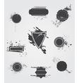 Set of old dark vintage grunge label vector image vector image
