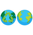 set of recycle earth logo vector image