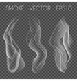 set of transparent realistic white grey vector image vector image