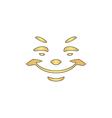Smile computer symbol vector image vector image