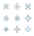 Snowflake icons set variable line vector image vector image