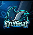 stingray esport logo mascot design vector image vector image