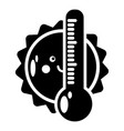 summer icon simple style vector image vector image
