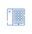 tablet and case line icon concept tablet and case vector image vector image