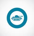 tank icon bold blue circle border vector image
