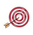 target market consumer bullseye or goal vector image