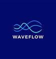 wave flow stream logo icon vector image