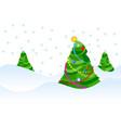 xmas trees vector image vector image