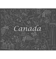 Canada chalk vector image
