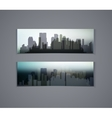 horizontal banners of city vector image