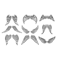 wings set for tattoo vector image