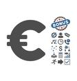 Euro Flat Icon With Bonus vector image