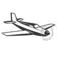 airplane isolated on white background vector image