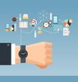 time management concept flat composition poster vector image