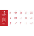 15 test icons vector image vector image