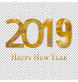 2019 new year poster transparent background vector image vector image