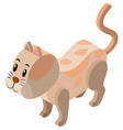 3d design for cute cat vector image
