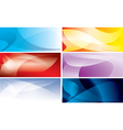 abstract colorful backgrounds with wavy lines vector image vector image